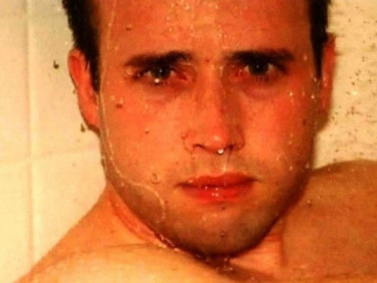 Travis Alexander in shower prosecution evidence photo