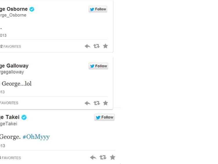 Tweets about the Royal baby's name