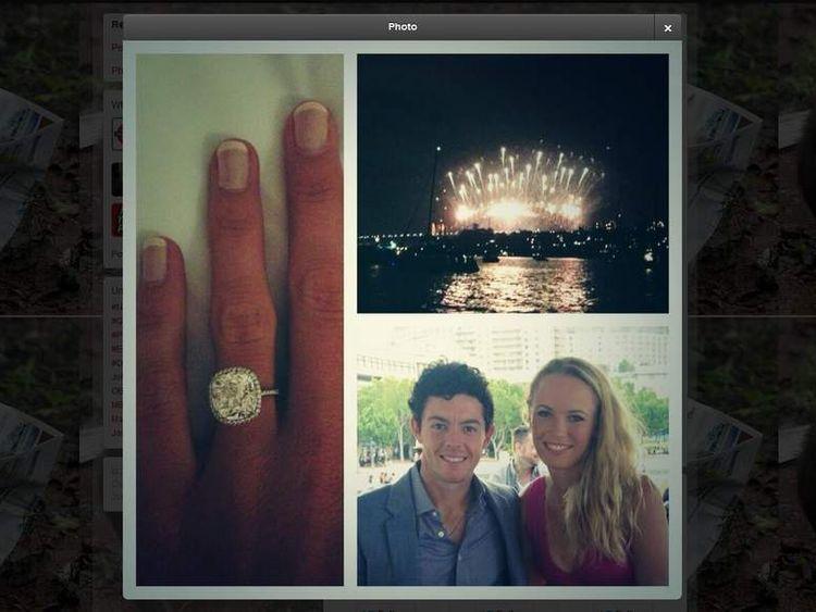 Rory McIlroy Gets engaged to Caroline Wozniacki Credit: @McIlroyRory/Twitter