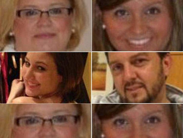 Clockwise top left: Hollie Boyles, Shelby Boyles, Brian Jennings, Breanna Mitchell