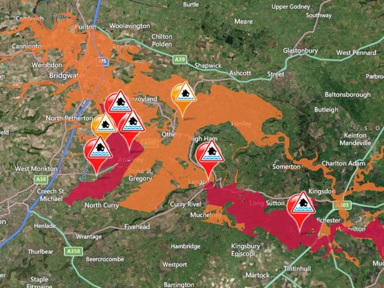 Flood warnings and alerts in Somerset