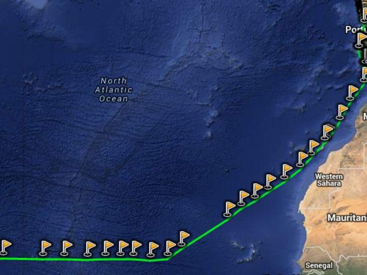 Route of Roger and Margaret Pratt to St Lucia