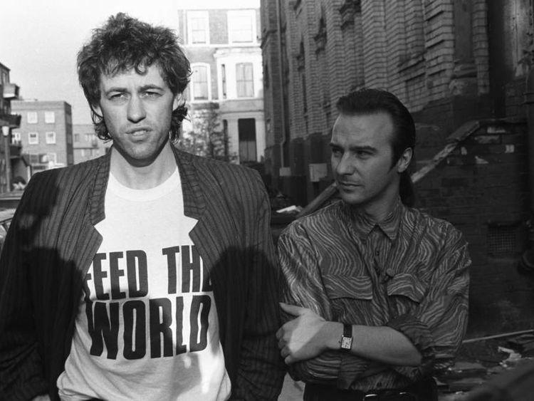 Bob Geldof (L) and Midge Ure