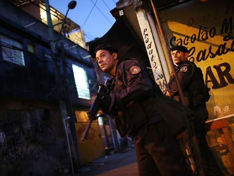 Police and military operation in Mare favela