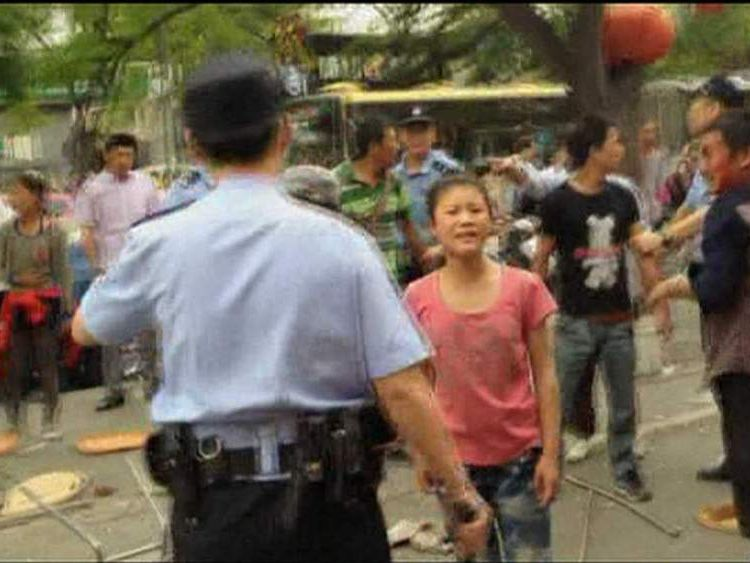 A street brawl in Beijing filmed by Chinese artist Ai Weiwei