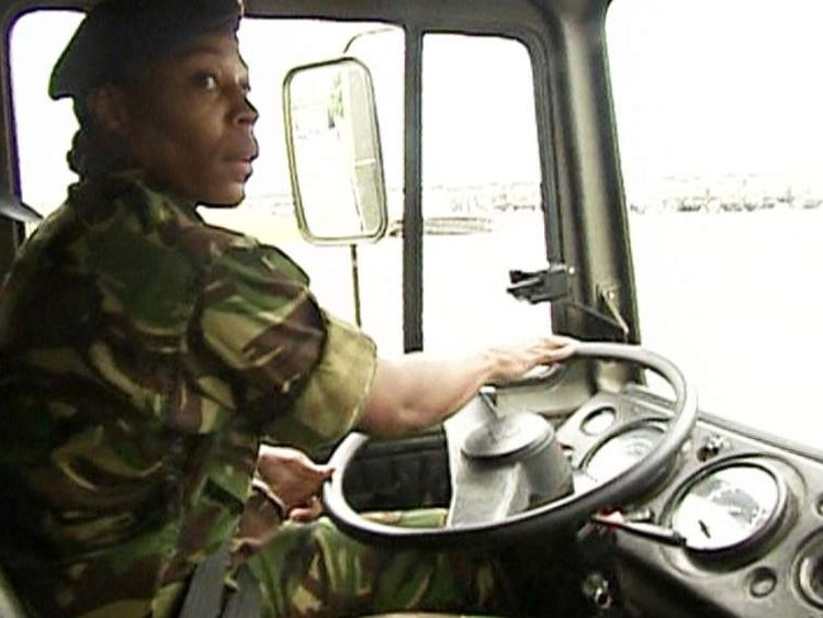A woman in the Army