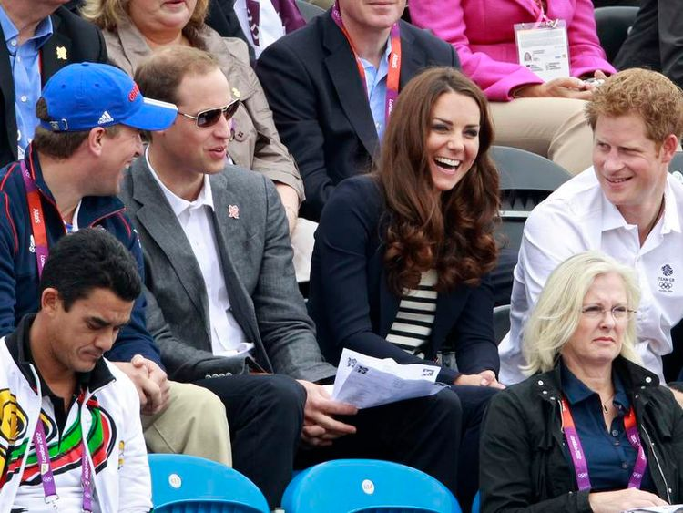 Kate, William and Harry watch Zara Phillips at Olympics