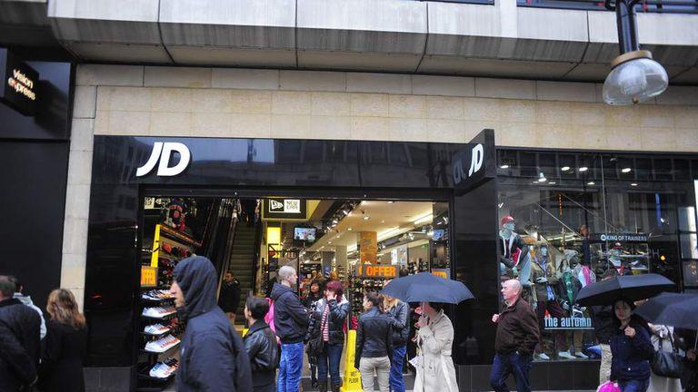 JD Sports on Oxford street