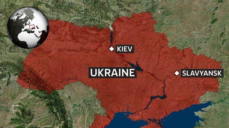Ukraine slavyansk map