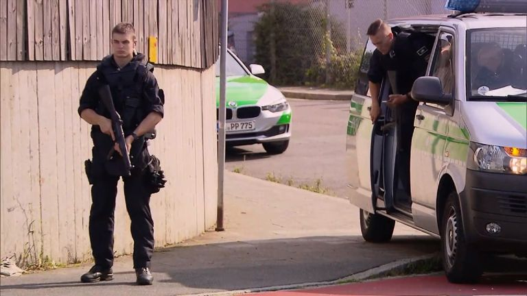 Armed police have arrived at the centre for migrants