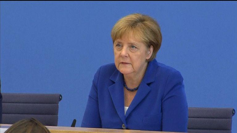 Angela Merkel speaks about Germany IS terrorism