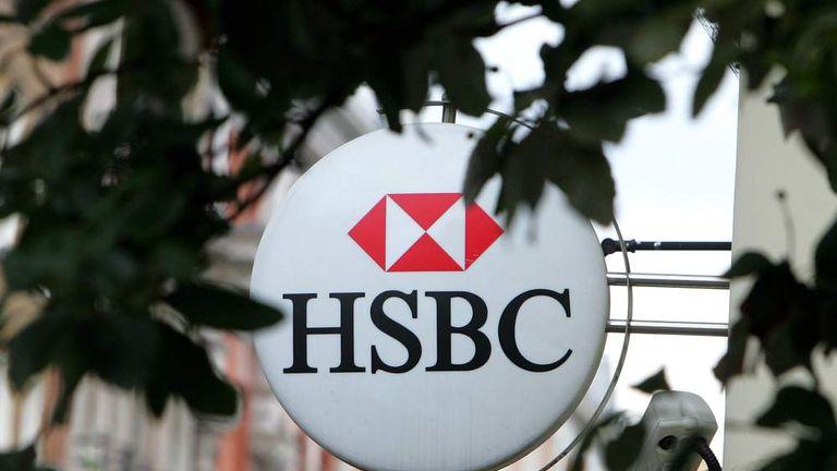 Sign outside HSBC bank