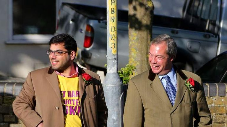 Raheem Kassam and Nigel Farage