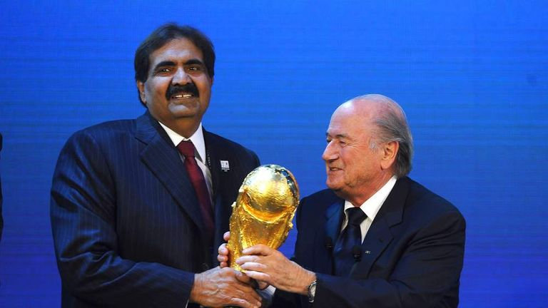 Fifa president Sepp Blatter announces Qatar as the hosts of the 2022 World Cup