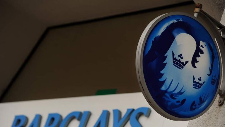 Sign outside Barclays Bank