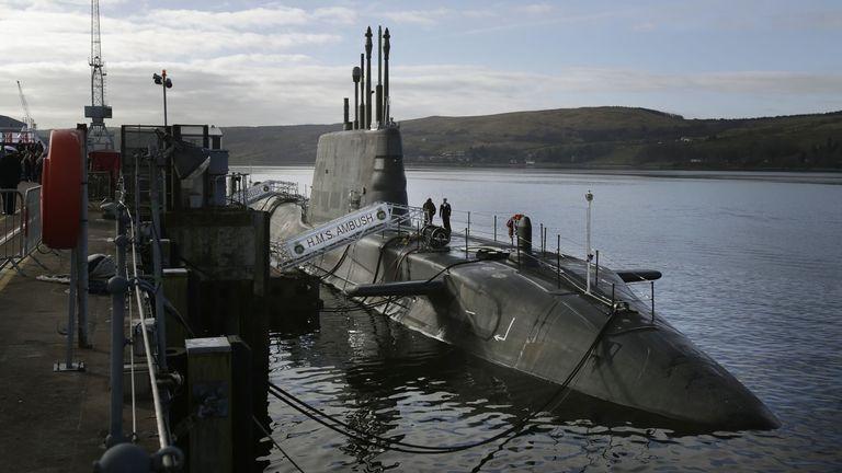 HMS Ambush, pictured in 2013