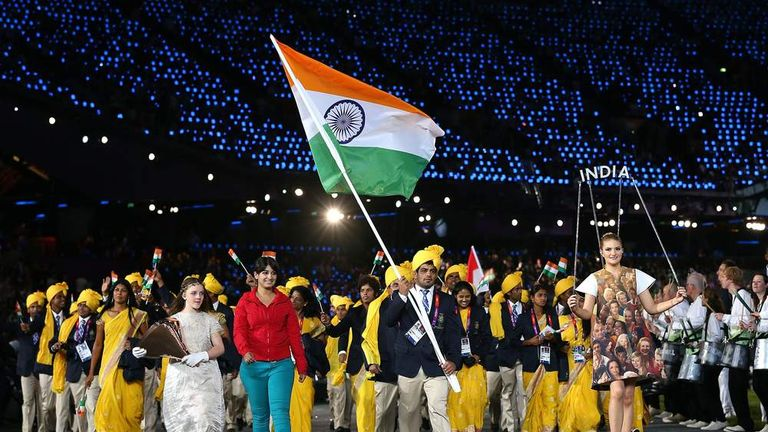 Mystery woman appears with the Indian team at the Olympics 2012 opening ceremony