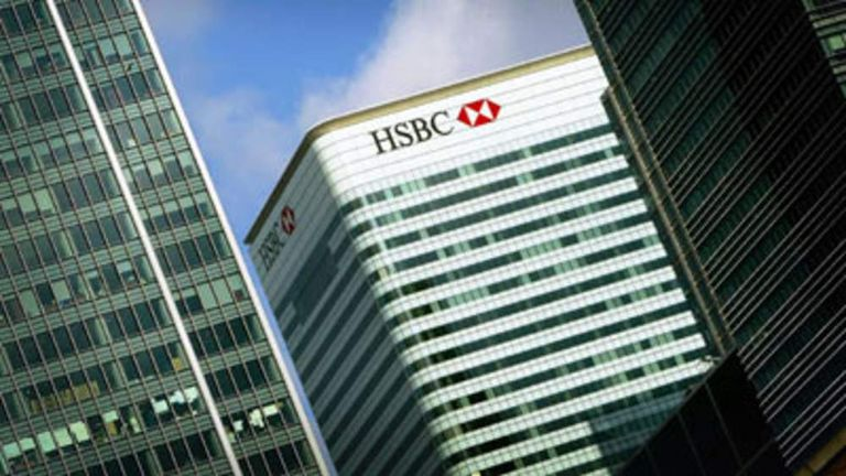 The HSBC building at Canary Wharf, London