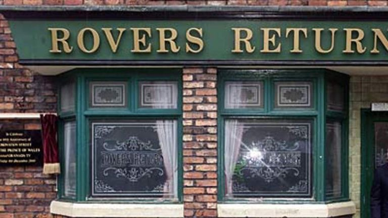 The Rovers Return pub on the set of Coronation Street