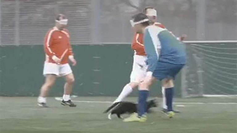 Paddy Power's blind footballers advert shows players mistaking a cat for the ball