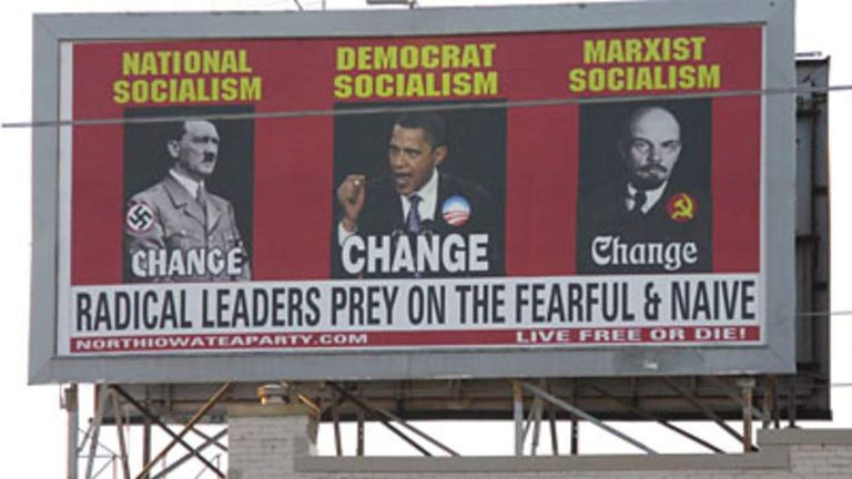 Tea Party poster was put up in Iowa