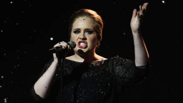 Adele at Brit Awards 2011