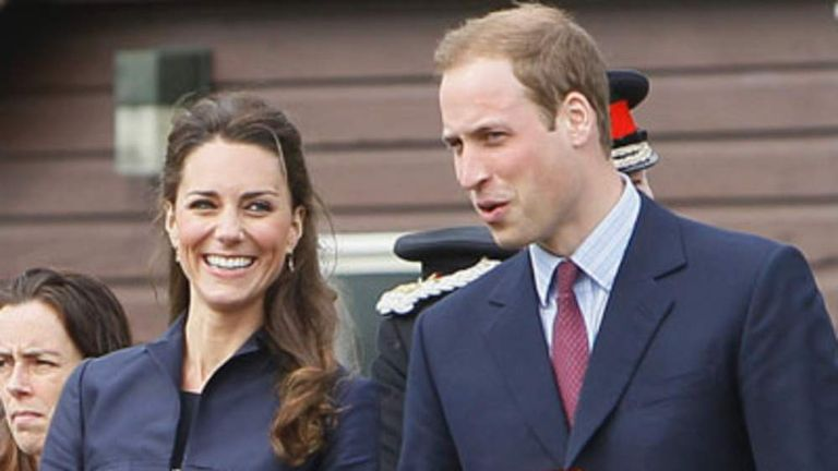Britain's Prince William and his bride-to-be Kate Middleton visit Witton Country Park in Darwen, northern England on April 11, 2011.