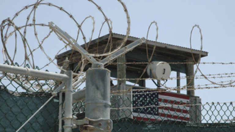 The barbed wire surrounding the Guantanamo Bay detention centre in Cuba