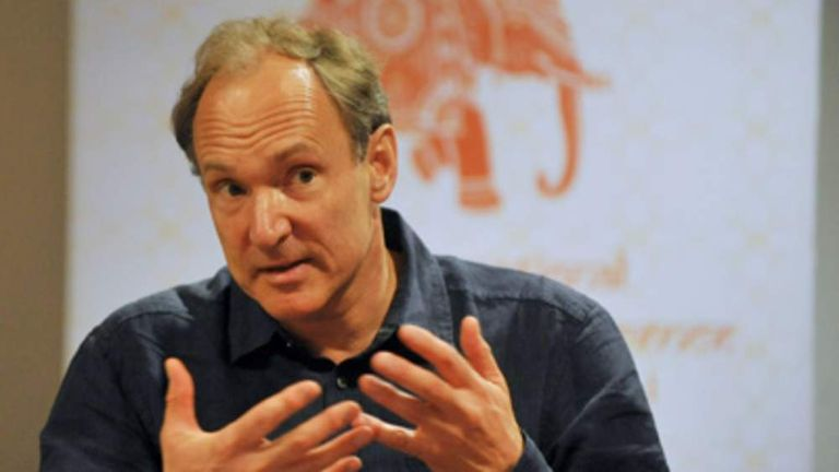 British computer scientist and inventor of the World Wide Web, Tim Berners-Lee