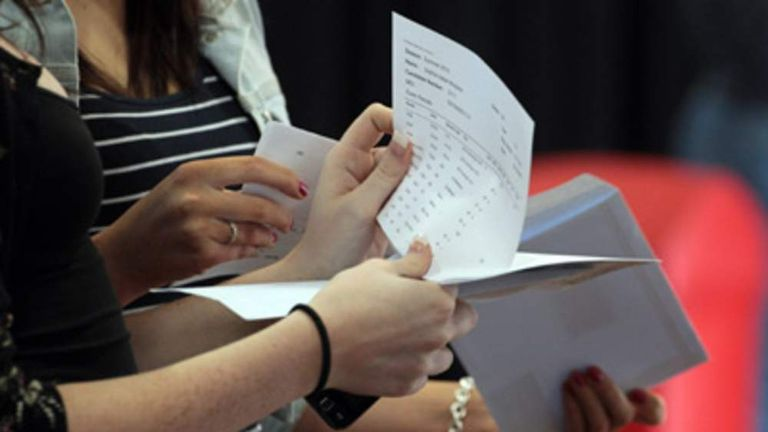A-level students find out results