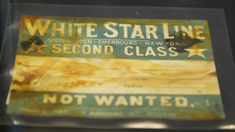 A second-class Titanic ticket set to go on auction in 2012