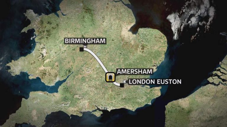 The first phase of the HS2 project is between Birmingham and London, but it will be expanded north.