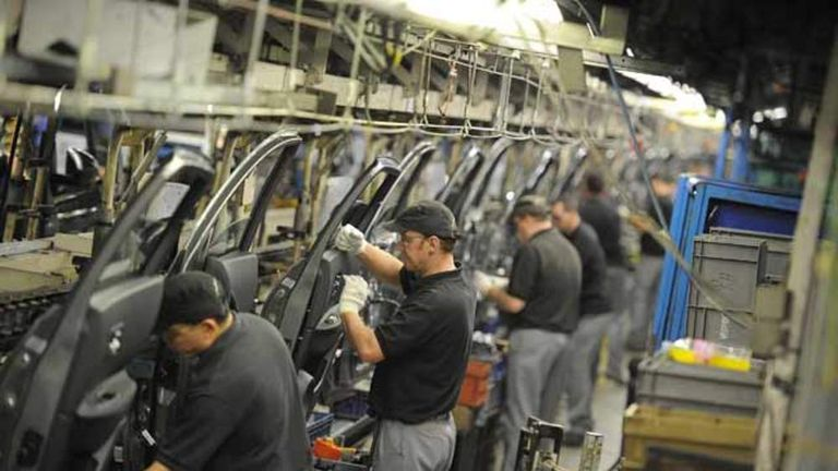 Workers at Nissan's factory in Sunderland