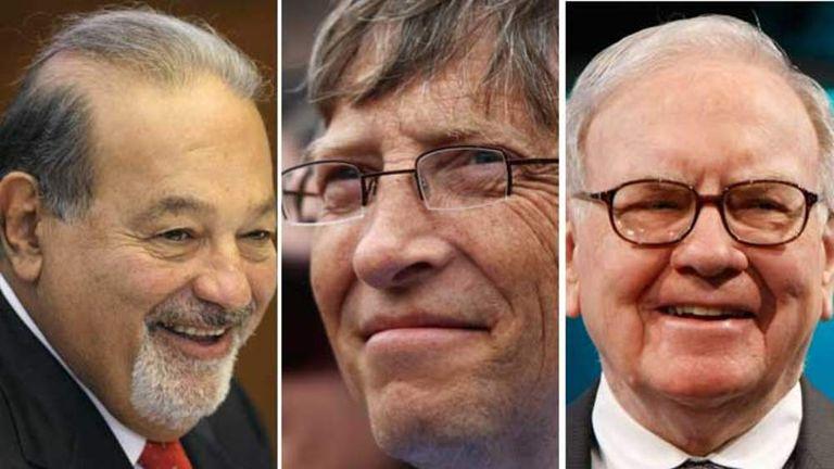 Carlos Slim, Bill Gates and Warren Buffett
