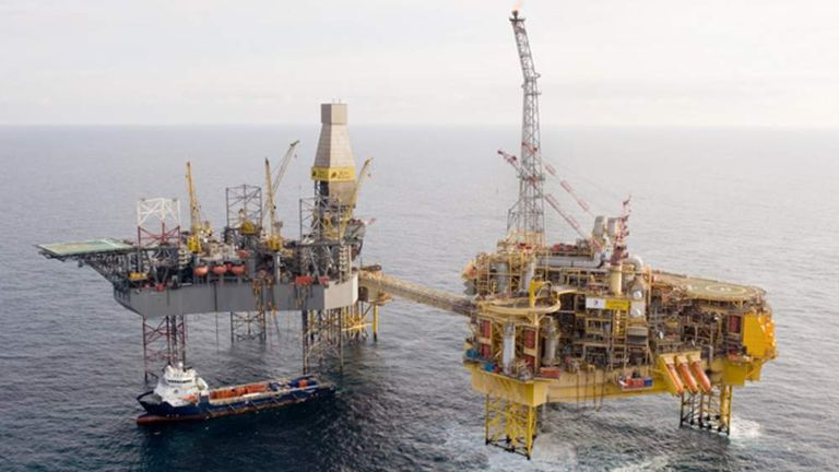 The Elgin oil and gas platform in the North Sea