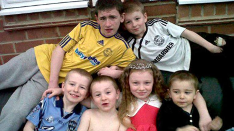The six children from the Philpott family who died in the fire