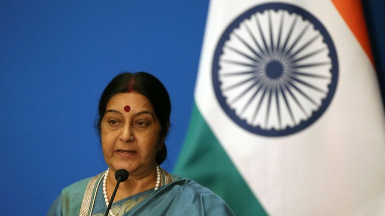 India's Foreign Minister Sushma Swaraj  has intervened