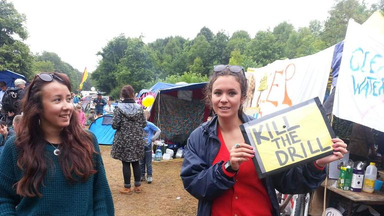 Anti-fracking protests Balcombe