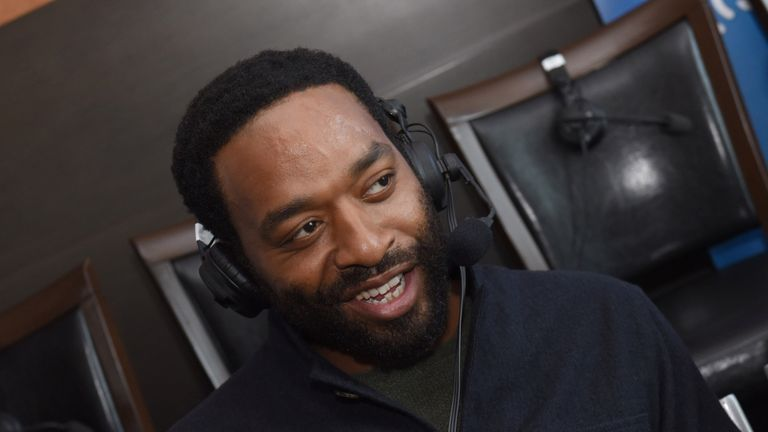 British 12 Years A Slave star Chiwetel Ejiofor takes part in SiriusXM's Entertainment Weekly Radio Channel Broadcasts at Comic-Con