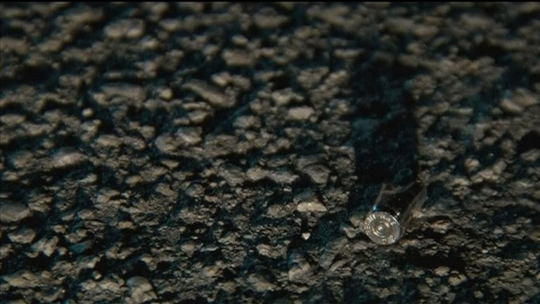 A bullet casing found outside the club