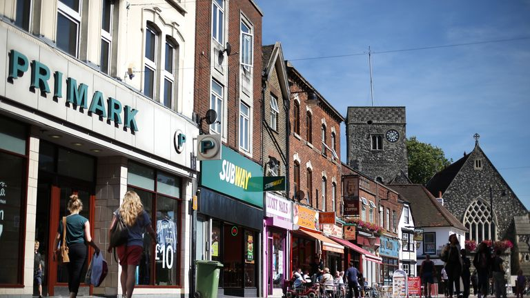 A file picture of a UK high street