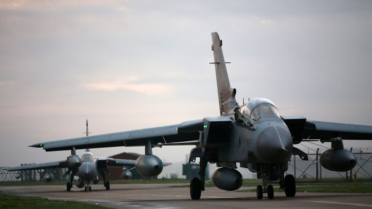 RAF Marham is home to four squadrons of Tornado bombers