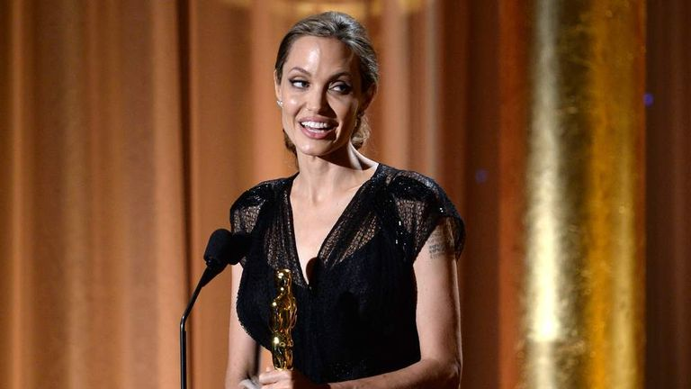 Jolie Picks Up Oscar For Humanitarian Work | US News | Sky News
