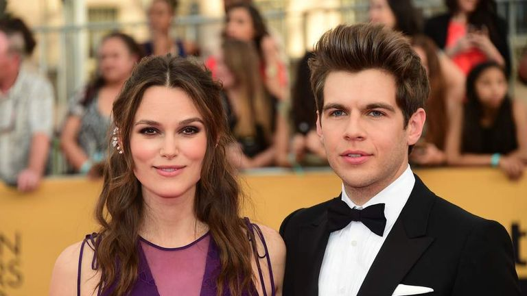 Keira Knightley (L) and musician James Righton