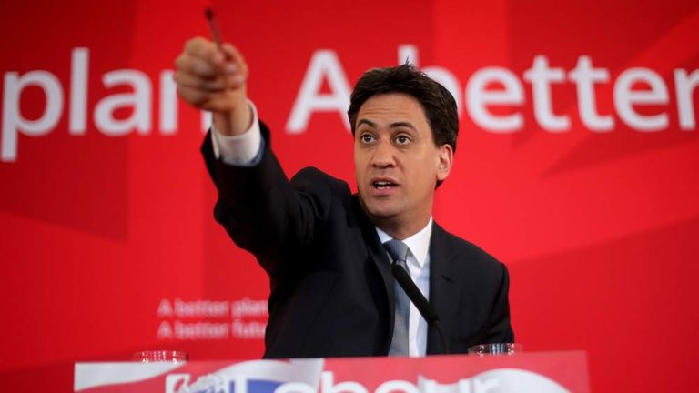 Ed Miliband Gives Key Speech In The Wirral