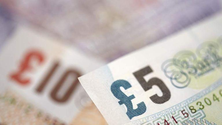 British bank notes