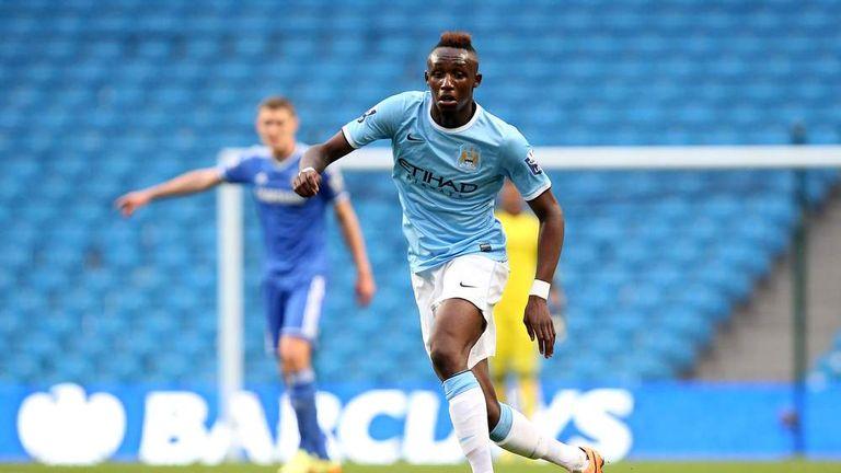 Seko Fofana of Manchester City during the Barclays U21 Premier League match between Manchester City U21 and Chelsea U21 at Etihad Stadium.