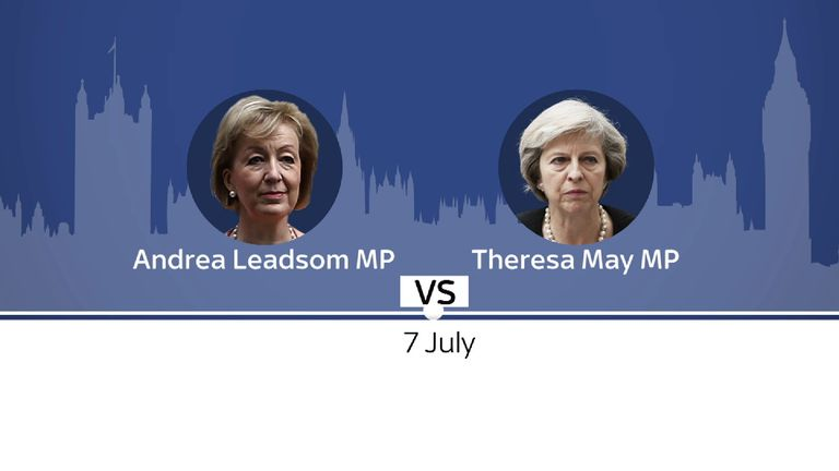 Conservative leadership contenders Andrea Leadsom and Theresa May
