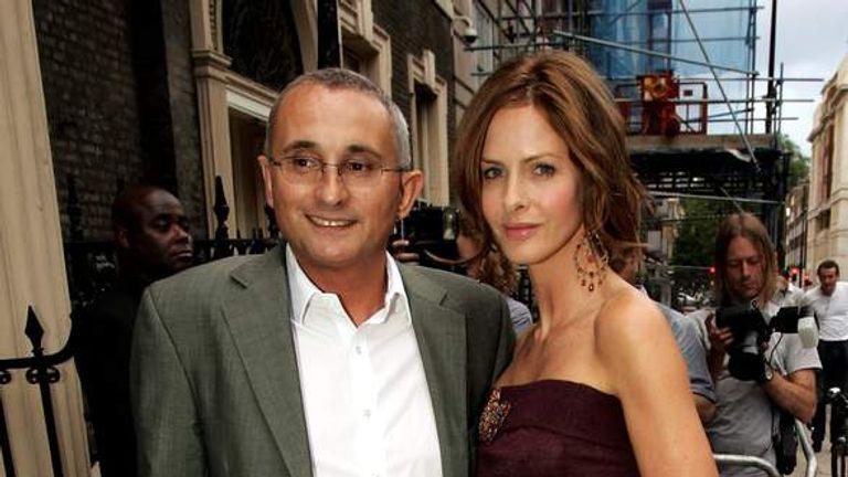 Trinny Woodhall and then-husband Jonny Elichaoff