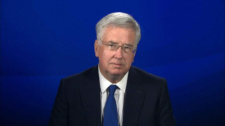 Defence secretary, Michael Fallon discusses Trident